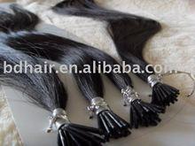 virgin remy I-tip human hair extenions/cheap virgin remy hair extension