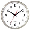 "12"" Metal Wall Clock, Aluminum Clock"
