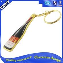 On sale,the wine bottle keychain, metal/zinc alloy key chain