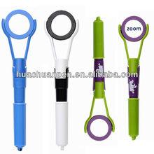 promotion magnifier pen for kids, ball pen with magnifer