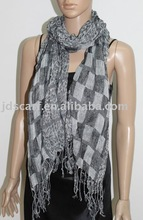 JDZ-119_1412# shawls and scarves leopard and check pattern