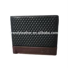 Leather men wallet genuine credit card holder
