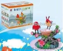 Plastic sound control toy double bird