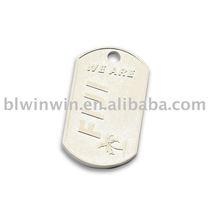 pet metal silver id dog tag
