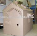 Teatrinho de papelão, papelão ondulado brincar de casinha para crianças