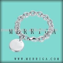 Jóias atacado moda 925 esterlina pulseira de prata,