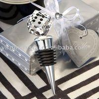 Dice Shape Crystal Bottle Stopper/Wine Decoration