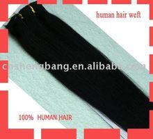100% human hair weft/hair weaving Guarantee the quality cheap straight human hair weft