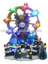 Christmas ornamnet, lighting & Musical sky wheel