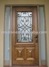 Wrought iron decoration entrance doors