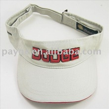 twill fabric fashion sun visors with elastic back strap