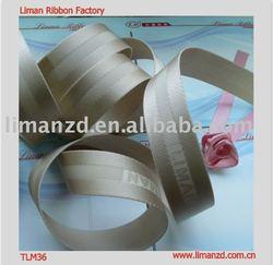 grey jacquard polyester mix nylon webbing bags strap with logo