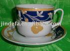 Ceramic tea cup and sauce