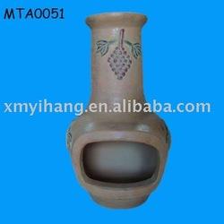 outdoor terracotta chiminea