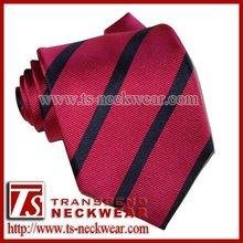 Red Striped Necktie,Mens Wedding Silk Tie
