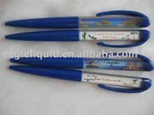 EGL019 promotion plastic aqua liquid floater ballpen