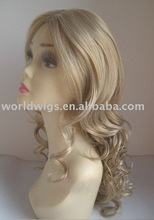 New style charming white blond synthetic hair wig