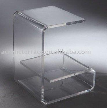 G de plexiglas acrylique fin de table table basse id du for Table de chevet en verre