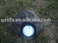 solar spot light stone resin craft used for garden decoration
