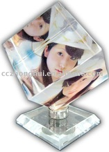 Fashion design wedding or graduation k9 crystal glass photo frame