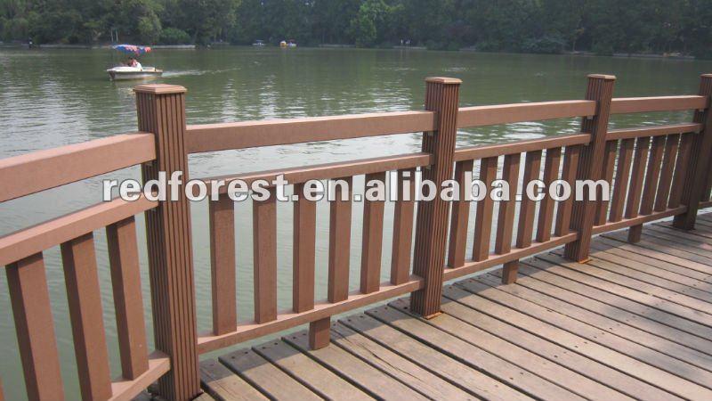 Compuesto pl stico de madera de barandas for Barandales de madera para jardin