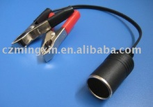 9v battery clip with car charger sockets