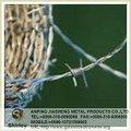 Galvanizado y recubierto de pvc de doble torsión de alambre de púas( fábrica)