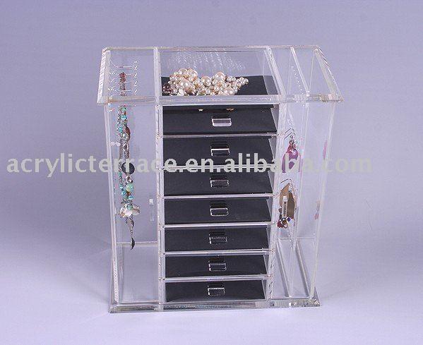 Affichage de bijoux acrylique bo te vitrine boucle d - Boite a bijoux boucle d oreille ...