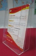 FW698 A4 Acrylic brochure holder Acrylic pamphlet holder Acrylic leaflet holder