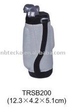 PU stress golf bag/stress reliever golf bag/squeeze golf bag foam toy