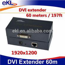 DVI extension 60 meters , DVI expansion over CAT5E OR CAT6, rj45 DVI EXTENDER