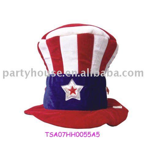 2013 promocional tío Sam sombrero con la impresión