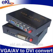 eKL VGA / AV to dvi converter box, ypbpr to dvi converter