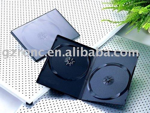 Durable with PVC transparent cover--black CD/DVD case (RC-DC10)