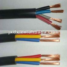 RVV black coloured electrical cord