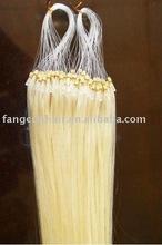 Micro ring loop human Hair extension/weave