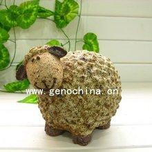 Glaze ceramic stone sheep garden decoration