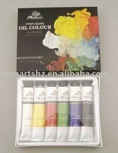 6x45ml Artist's Quality Oil Colour Set feature with non-toxic pigments & traditional bindings - China Oil Paint Factory supplier