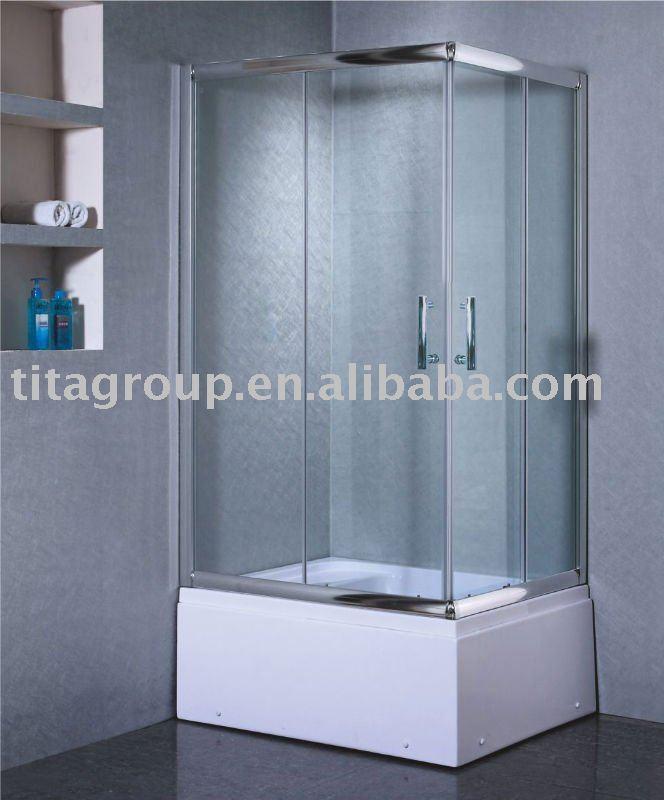 Cl tures en verre de douche de fibre de verre de tailles for Panneau fibre de verre salle de bain