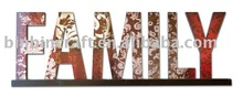 Color Letters BIN-ML11009 Wooden letters Family style new design