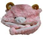 Cartoon sheep animal hat ,plush winter hat, stuffed toys