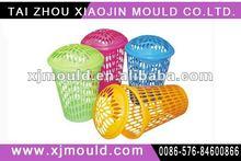 commodity plastic wastebasket with lid mold,bathroom wastebasket mould
