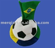 2014 Brazil world cup football hats with brazil flag on top