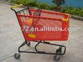 De plástico de plástico del supermercado carrito de la compra, carro de mano, carro de supermercado