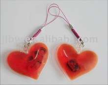 Liquid heart-shaped mobile phone cleaner and decoration