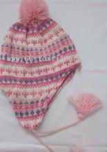 winter jacque hat w/pom