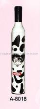 white color milk cow design wine bottle umbrella