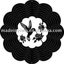 Fashion cross shape metal wind spinner WWS065