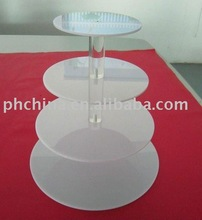JCD-159 White Acrylic Cake Stand