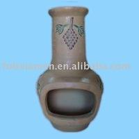 Custom terracotta outdoor garden clay chiminea